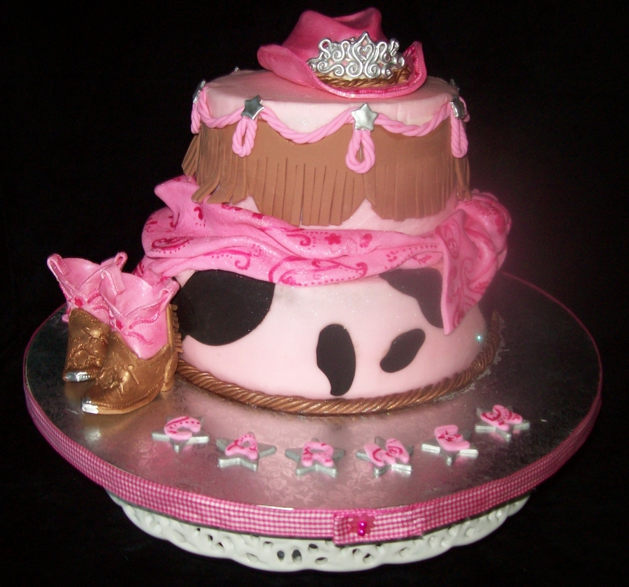 Cowgirl Themed Birthday Cake