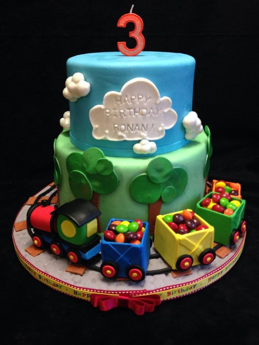 Outstanding Train Birthday Cake Cakecentral Com Funny Birthday Cards Online Fluifree Goldxyz