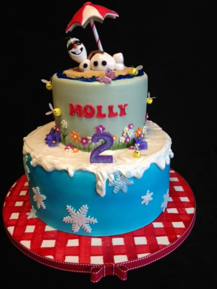 Disney S Quot Frozen Quot Olaf In The Summer Cake Cakecentral Com