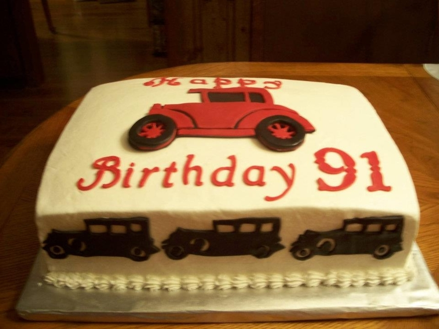 Antique Car 91St Birthday Cake CakeCentralcom