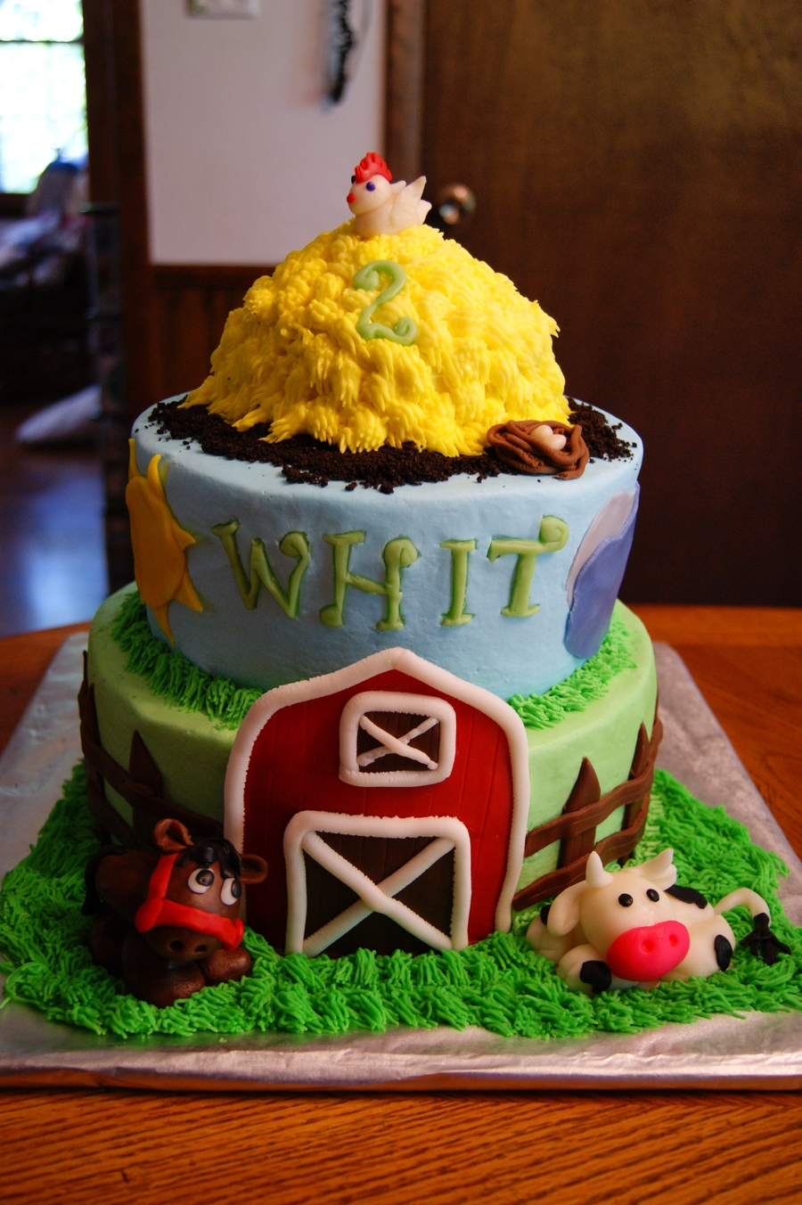 Farm Birthday Cake For Whit Cakecentral