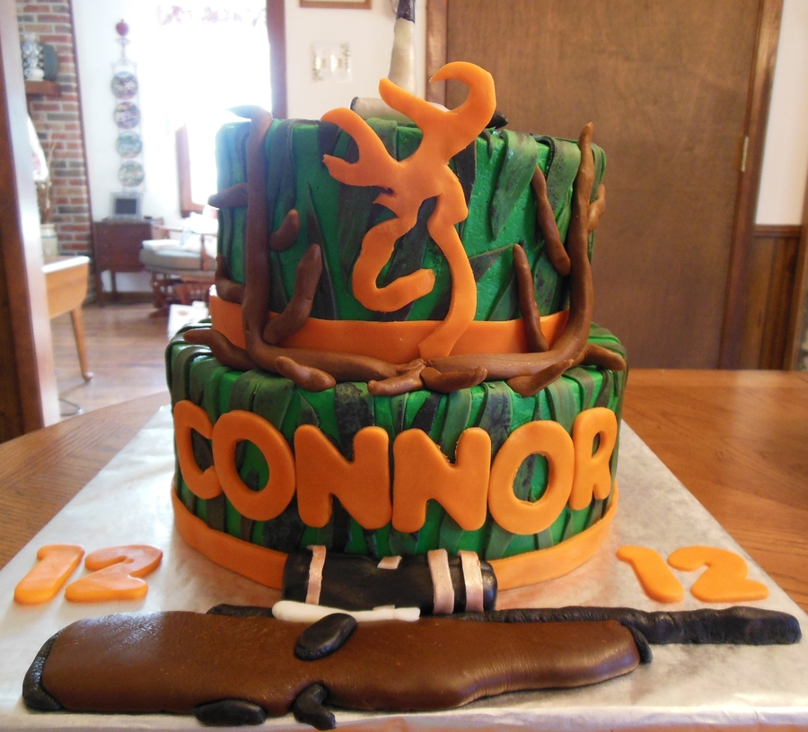 Hunting Cake For Connors 12Th Birthday on Cake Central