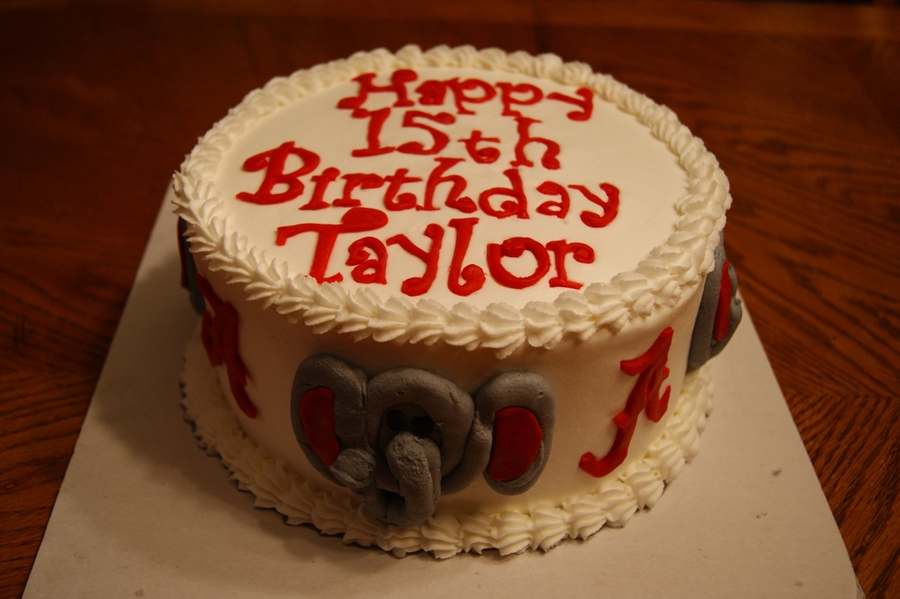 Alabama Football Birthday Cake on Cake Central