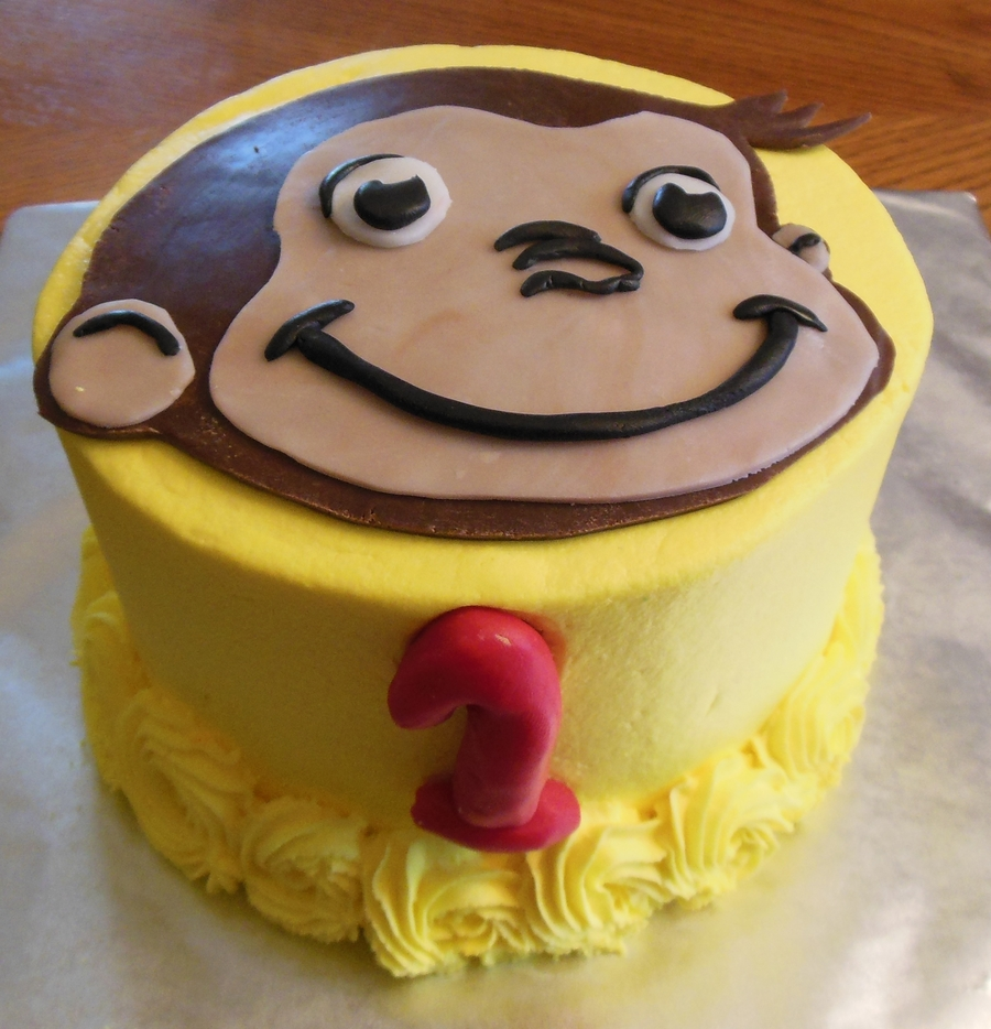 Curious George First Birthday Smash Cake on Cake Central