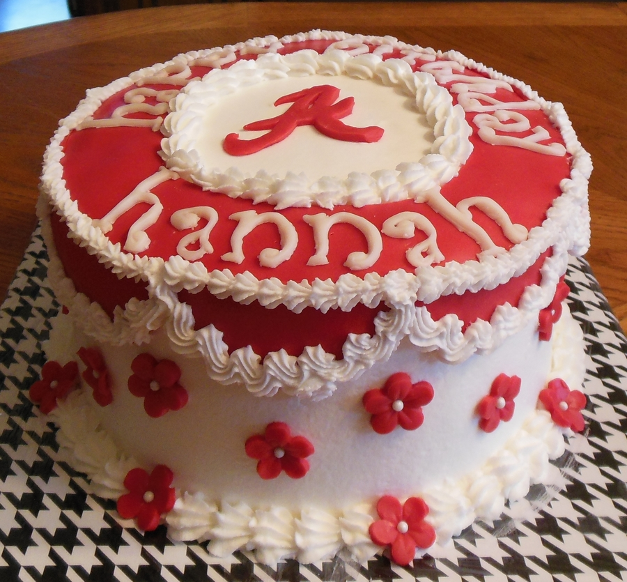 Alabama Football Cake For Hannah on Cake Central