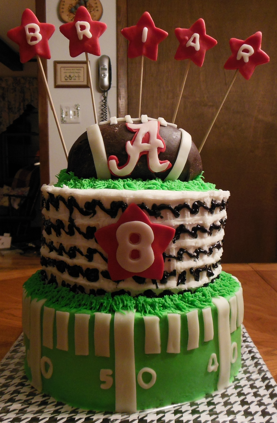 Alabama Football Cake For Briars 8Th Birthday on Cake Central