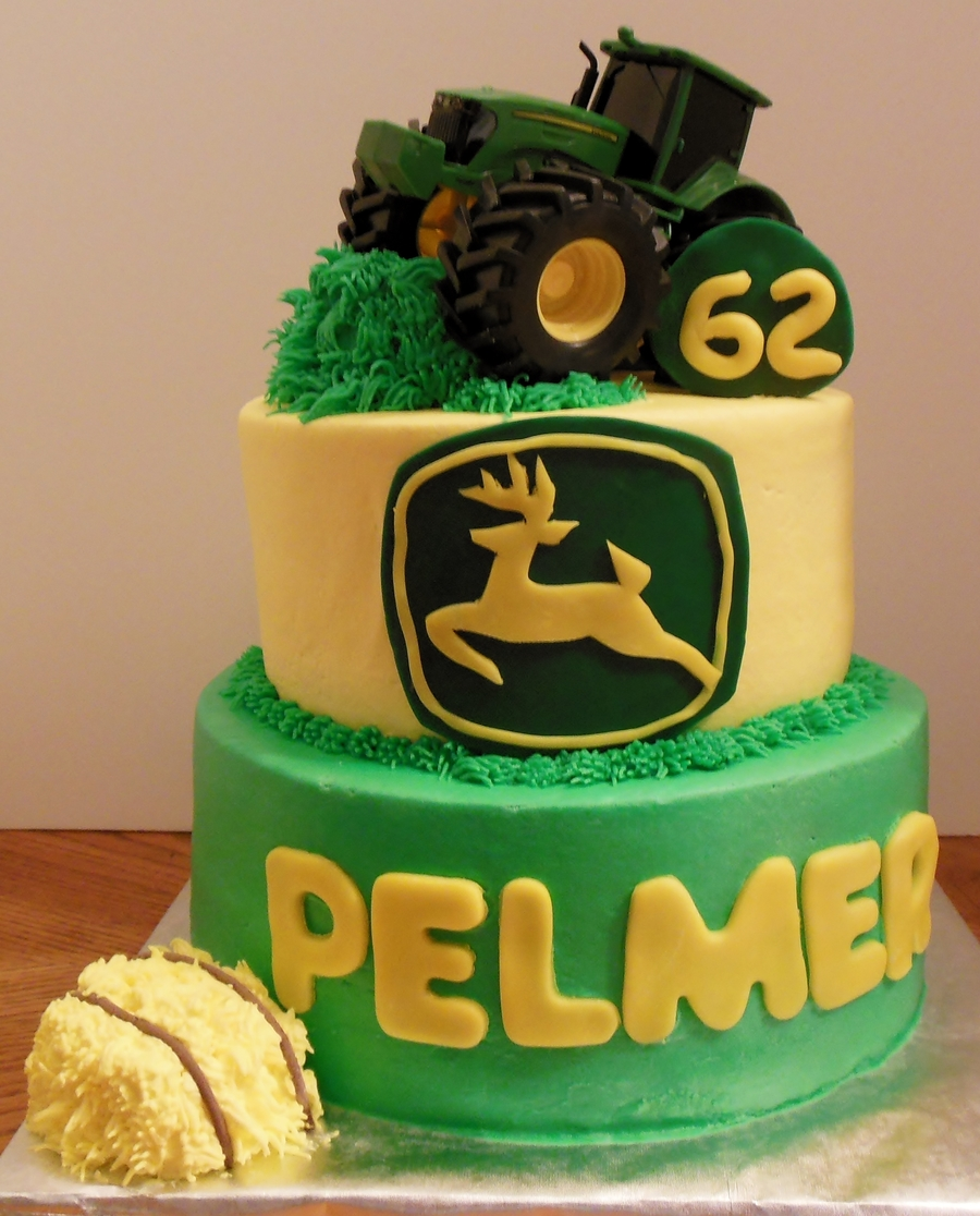 John Deere Tractor Cake For Pelmers 62Nd Birthday  on Cake Central