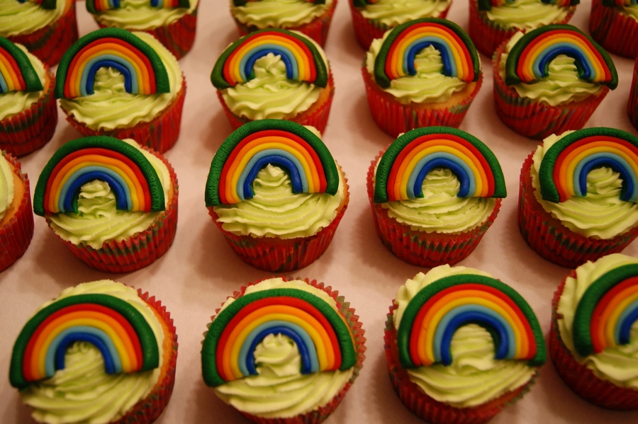 Rainbow Cupcakes For Girl Scout Bridging Celebration on Cake Central