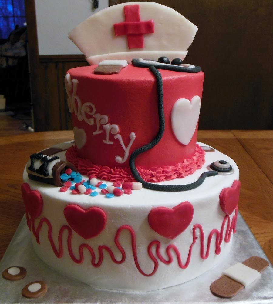 Nurse Birthday Cake For Sherrys 50Th CakeCentralcom