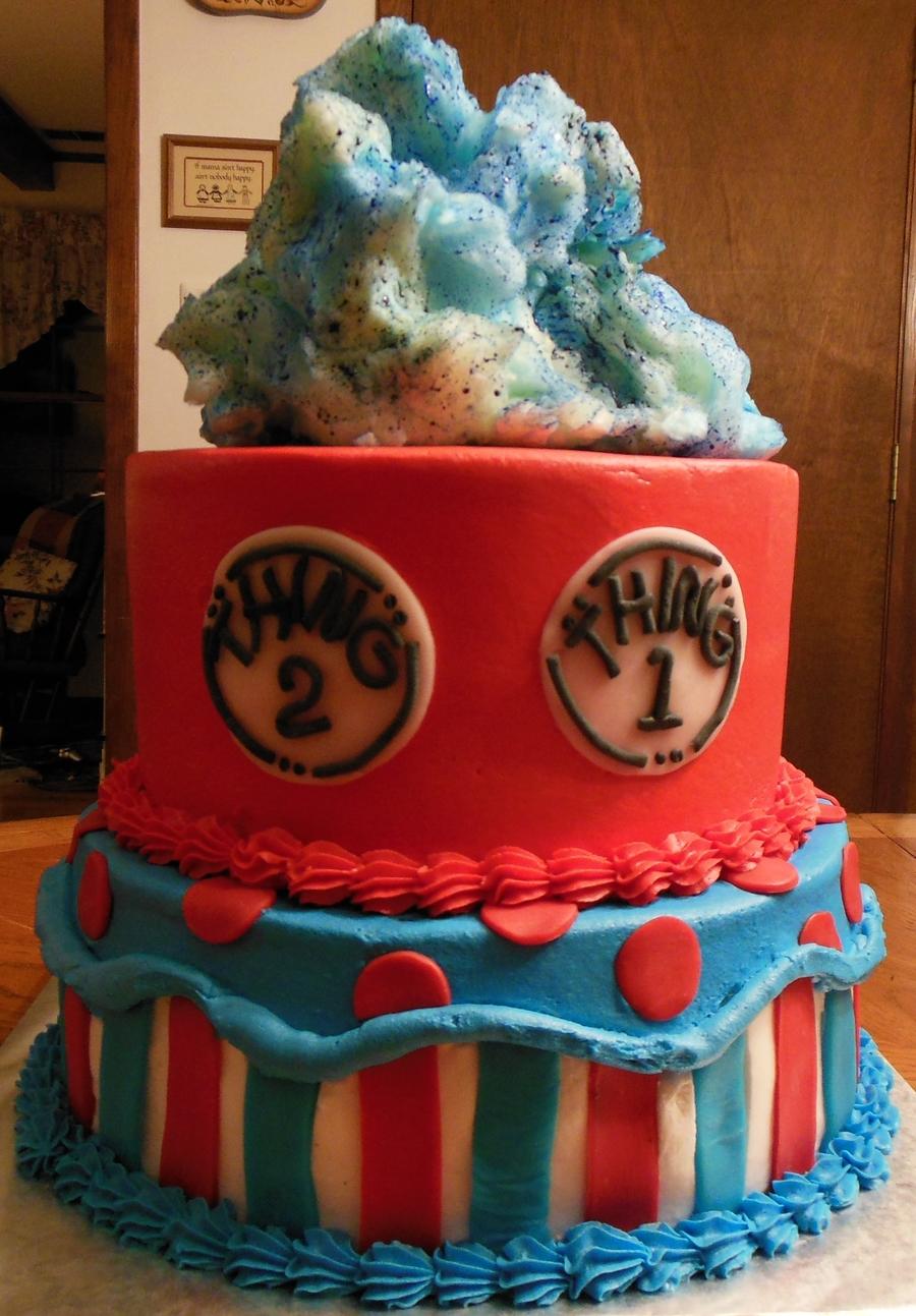 Strange Dr Seuss Birthday Cake 10 Amp 8 Rounds Buttercream Icing Wfondant Funny Birthday Cards Online Kookostrdamsfinfo