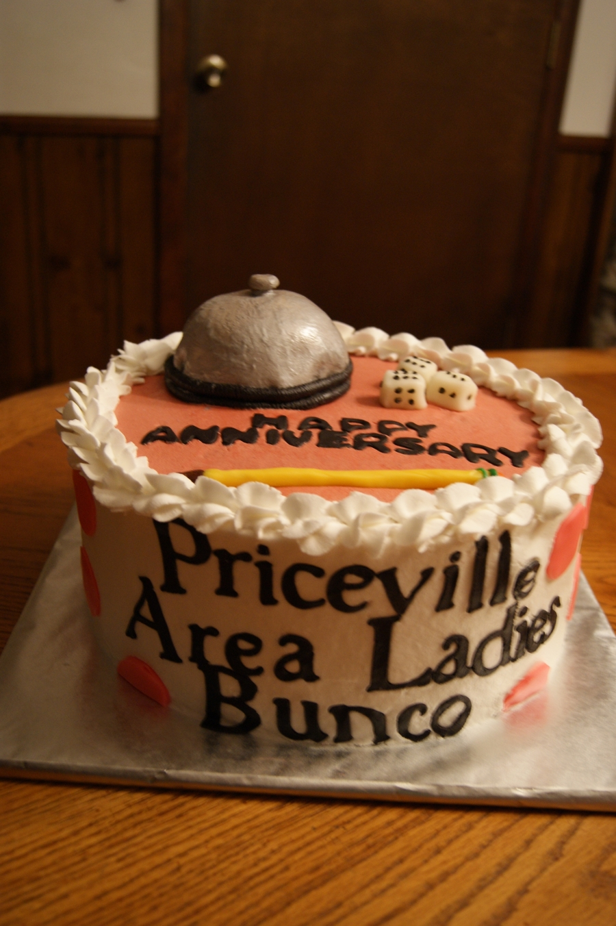 Bunco Cake For Priceville Area Ladies  on Cake Central