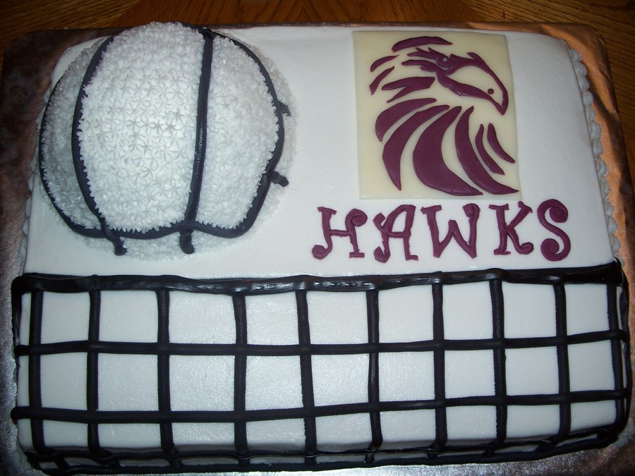 Volleyball Cake For Hawks Tournament on Cake Central