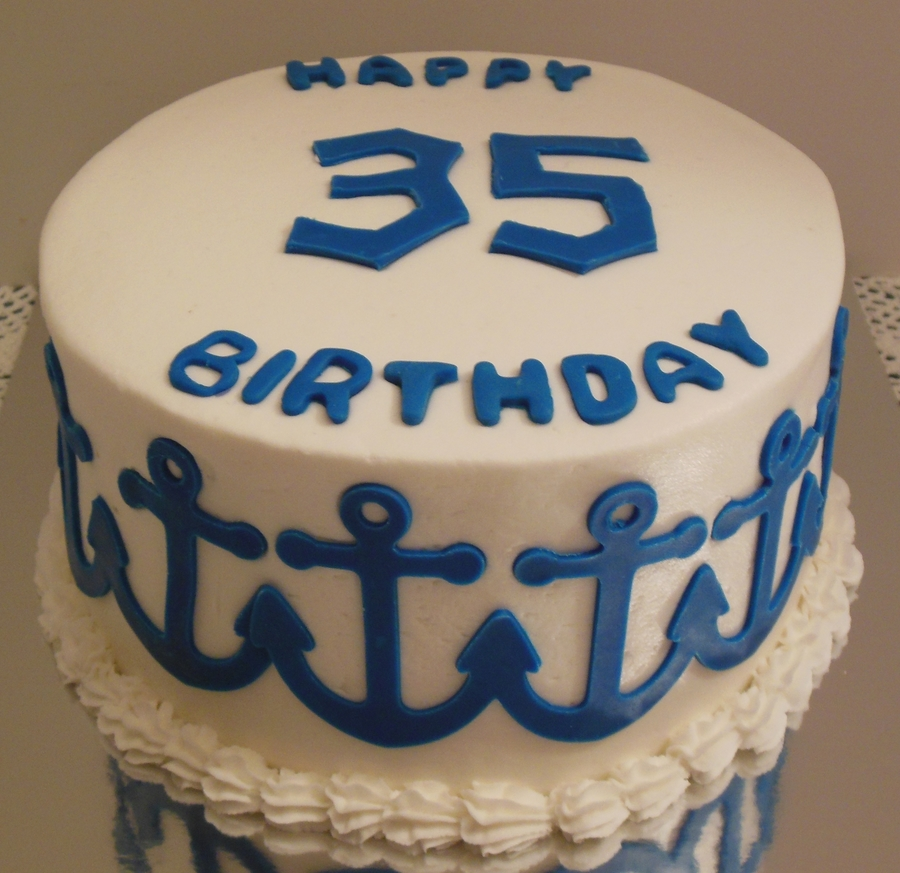 Marvelous Anchor 35Th Birthday Cake Cakecentral Com Funny Birthday Cards Online Alyptdamsfinfo