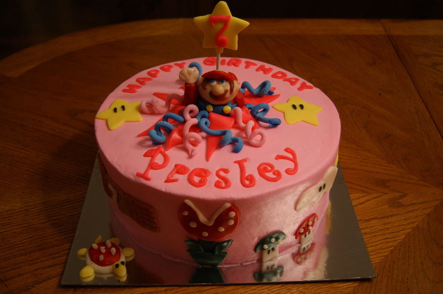 Gamer Girl Mario Cake on Cake Central