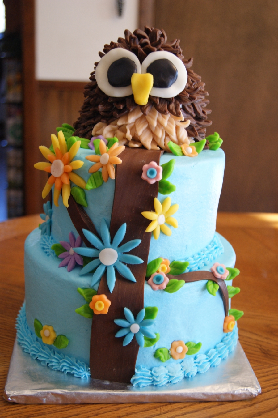 Brilliant Owl Birthday Cake For Natalie Cakecentral Com Funny Birthday Cards Online Alyptdamsfinfo