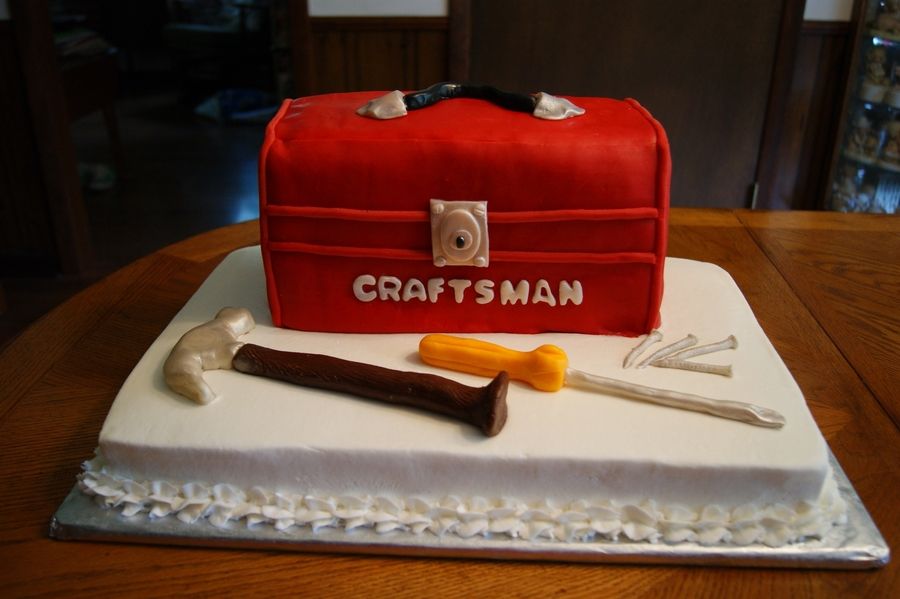 Toolbox Handyman Cake on Cake Central