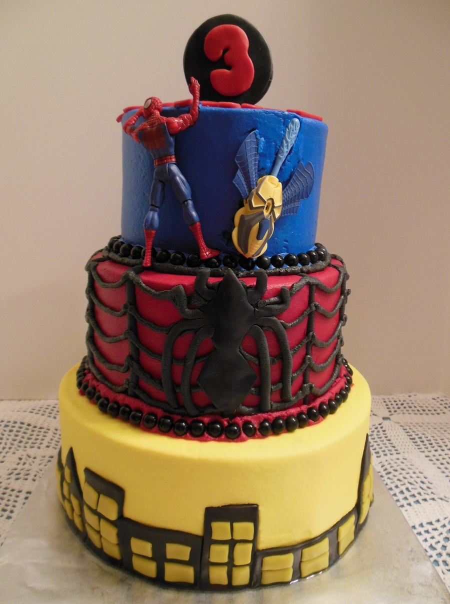 Superb Spider Man Cake For Whits 3Rd Birthday Cakecentral Com Funny Birthday Cards Online Drosicarndamsfinfo