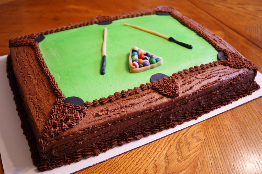 Pool Table Cake For Terry on Cake Central