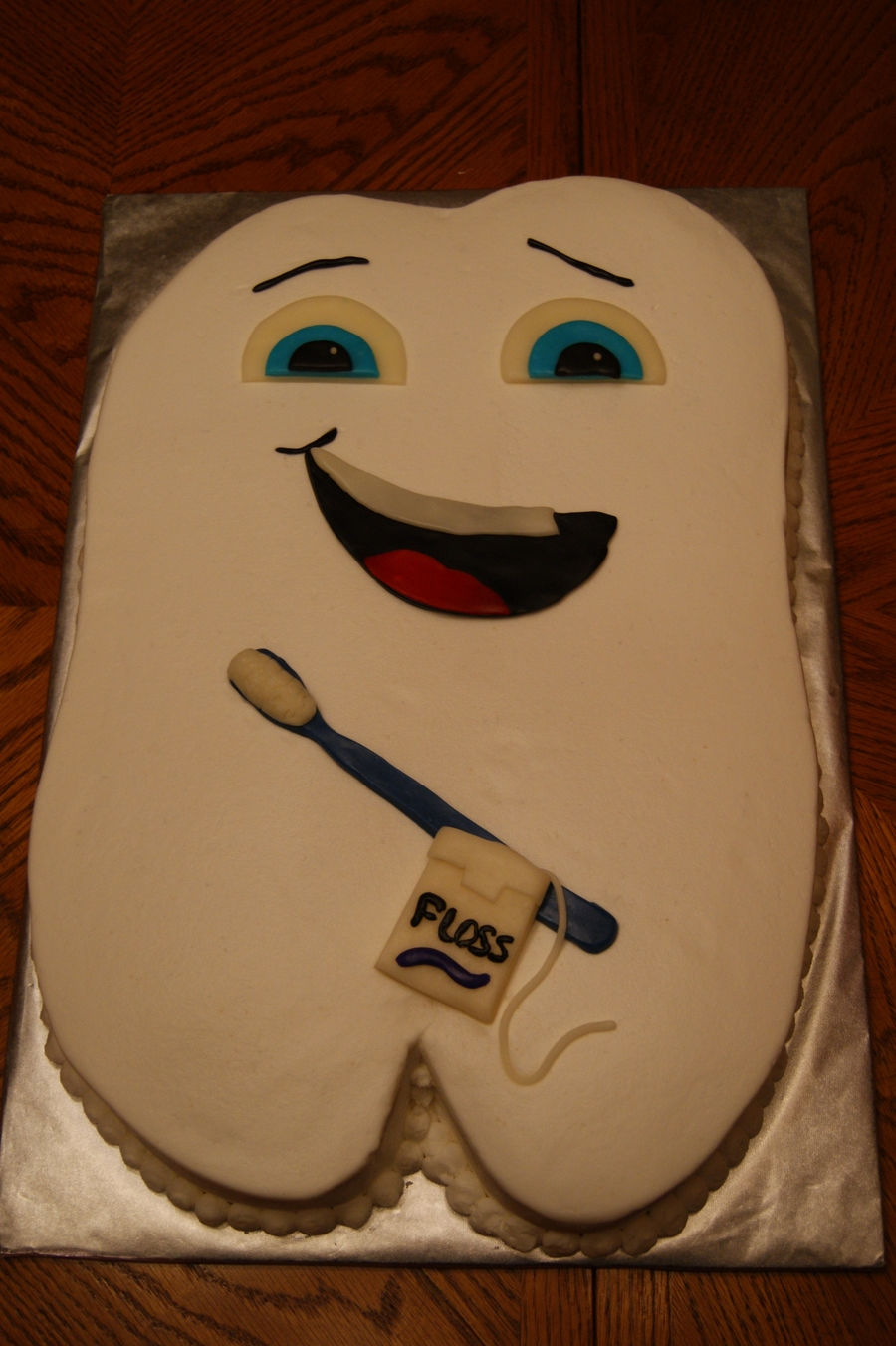 Tooth Dentist Retirement Cake on Cake Central