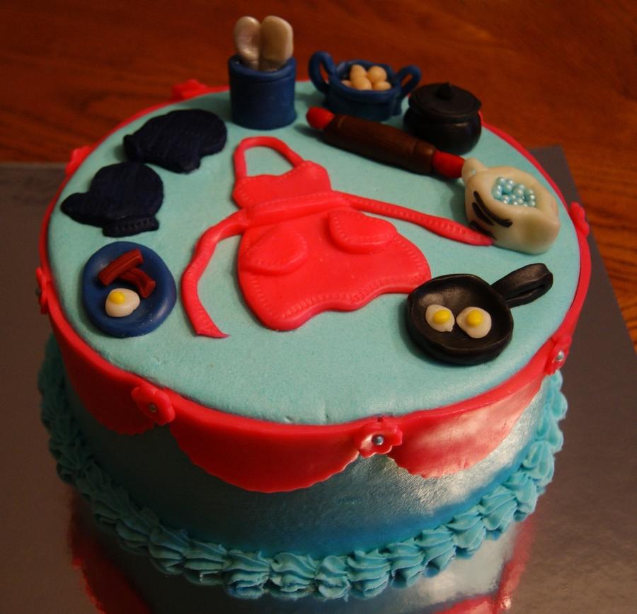 Cooking birthday cake
