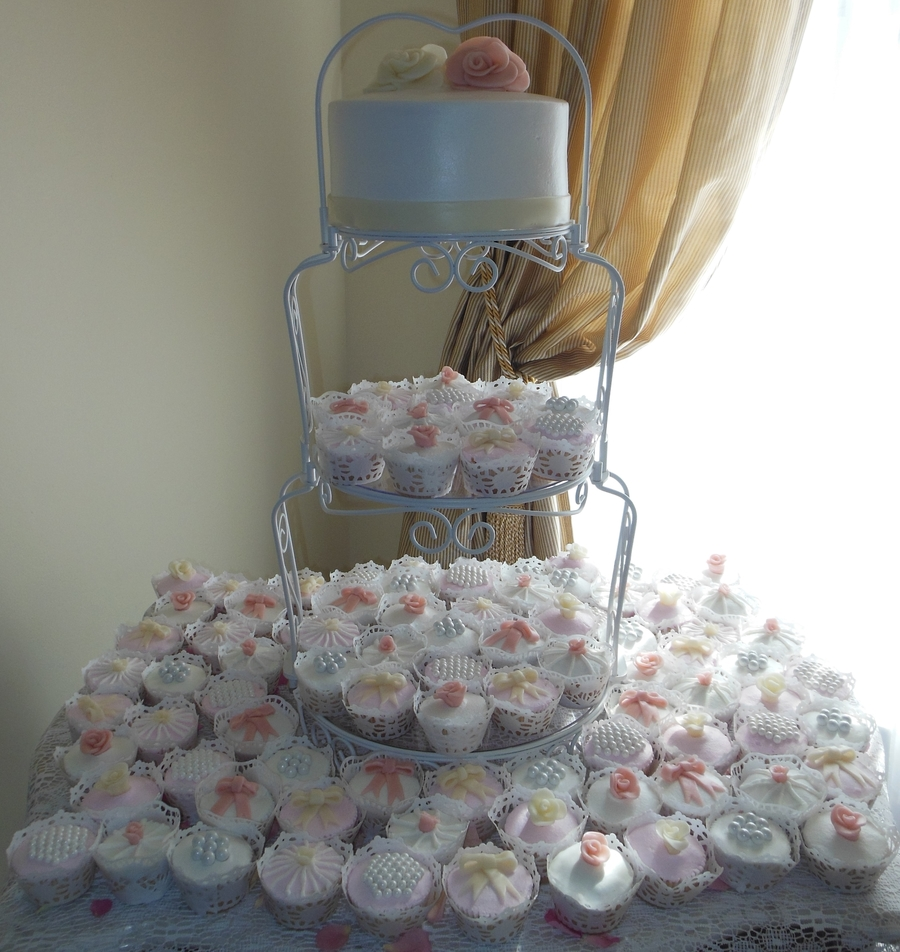 Shabby Chic Wedding Cupcake Tower on Cake Central