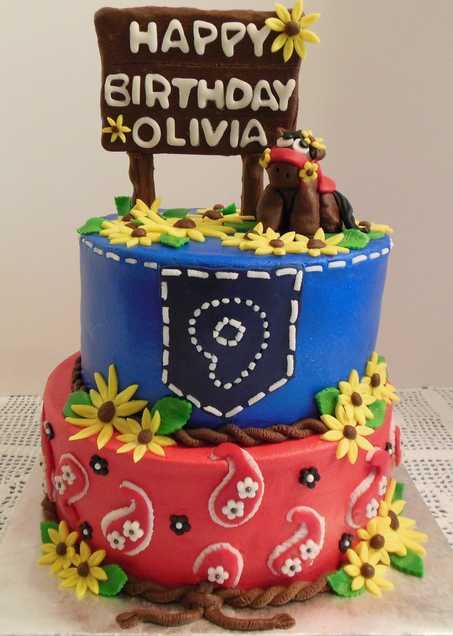 Horse Western Cake For Olivias 9Th Birthday on Cake Central