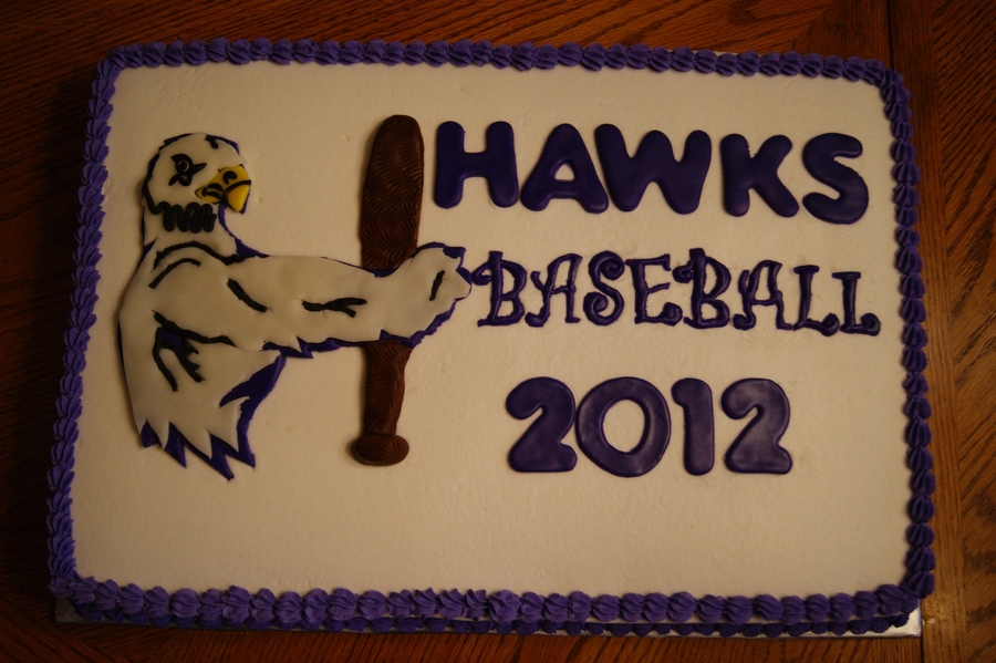 Hawks Baseball Banquet Cake on Cake Central
