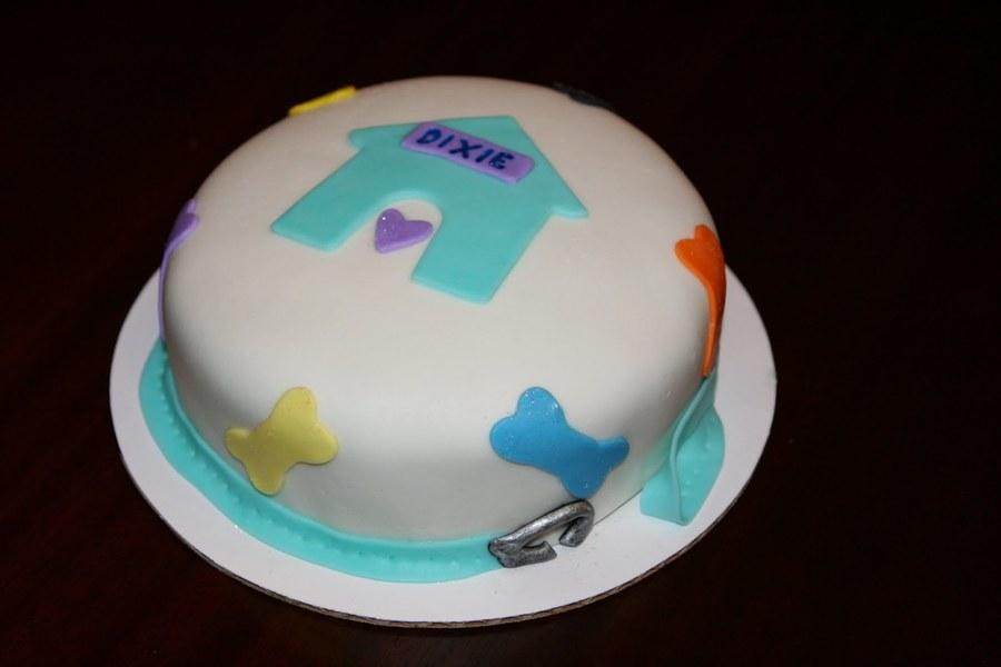 Groovy Puppy Birthday Cake Cakecentral Com Funny Birthday Cards Online Necthendildamsfinfo