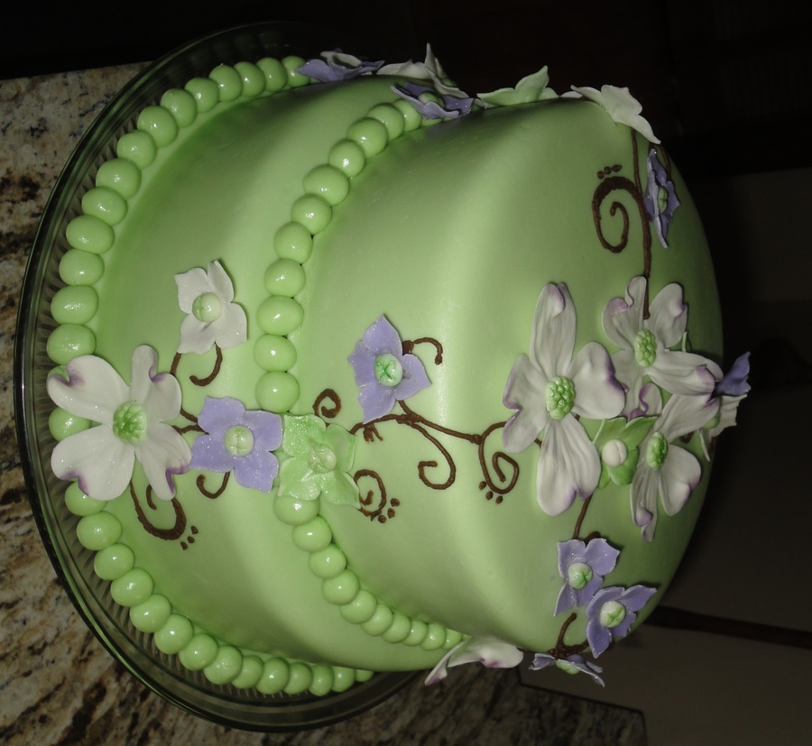 Dogwood Flower Cake on Cake Central