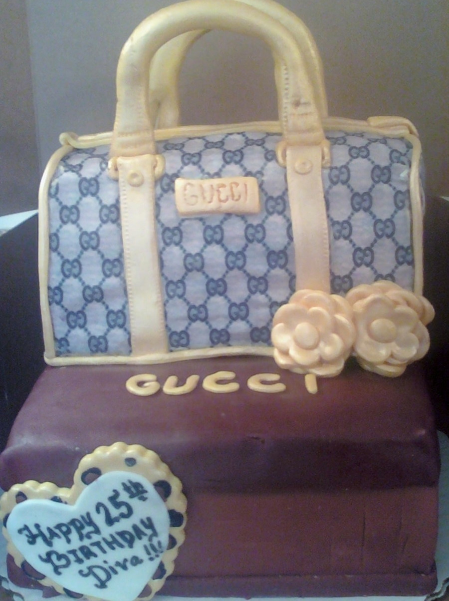 Gucci Purse Cake  on Cake Central