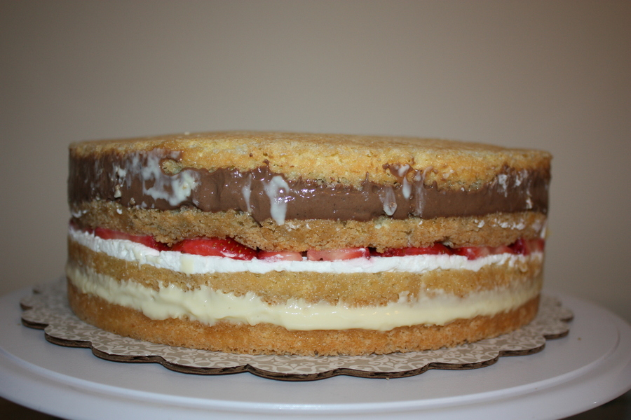 Italian Vanilla Custard Cake Recipe