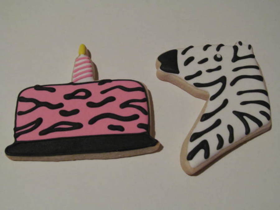 Zebra Birthday  on Cake Central