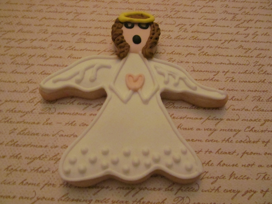 Angel Cookie on Cake Central