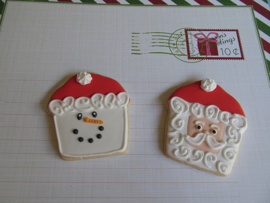 Frosty & Santa Cuppies on Cake Central