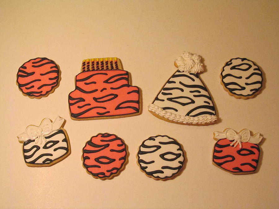 Zebra Birthday Cookies on Cake Central
