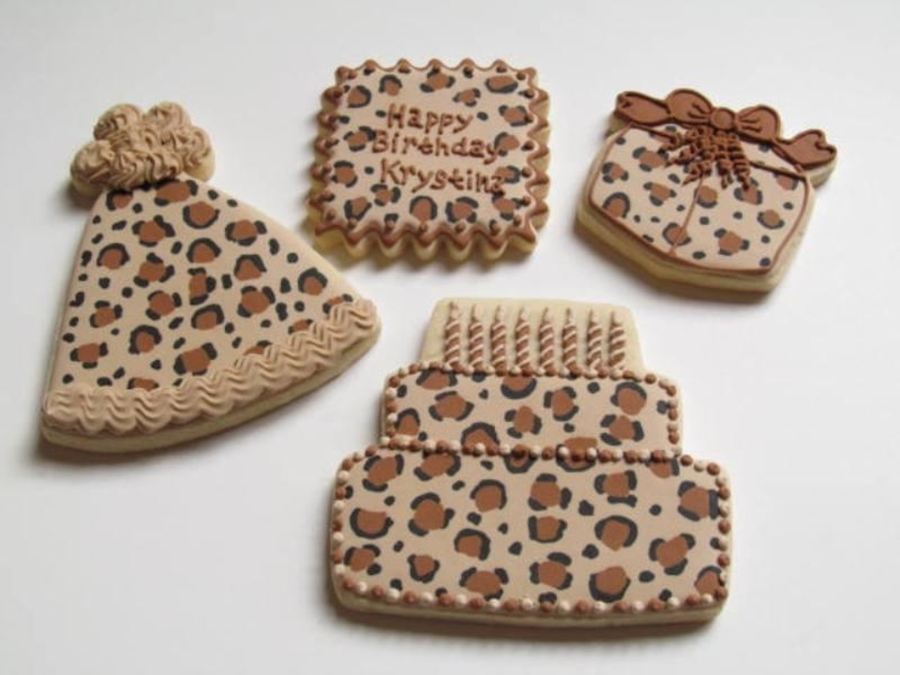 Leopard Birthday Cookies on Cake Central