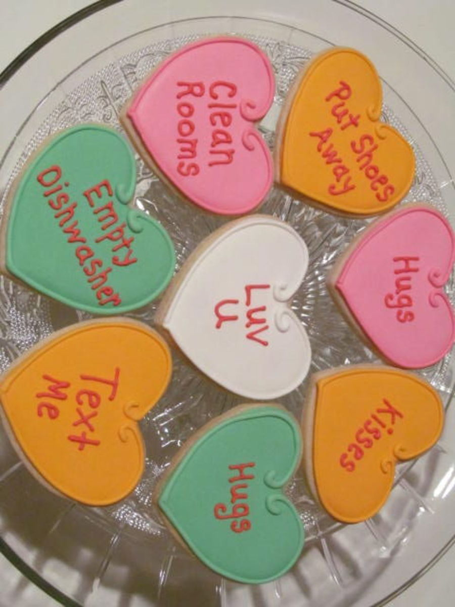 Conversation Hearts For The Kids on Cake Central