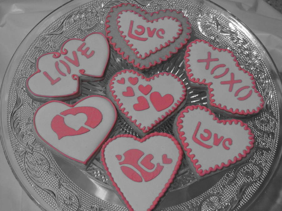 Valentine Stencil Cookies on Cake Central
