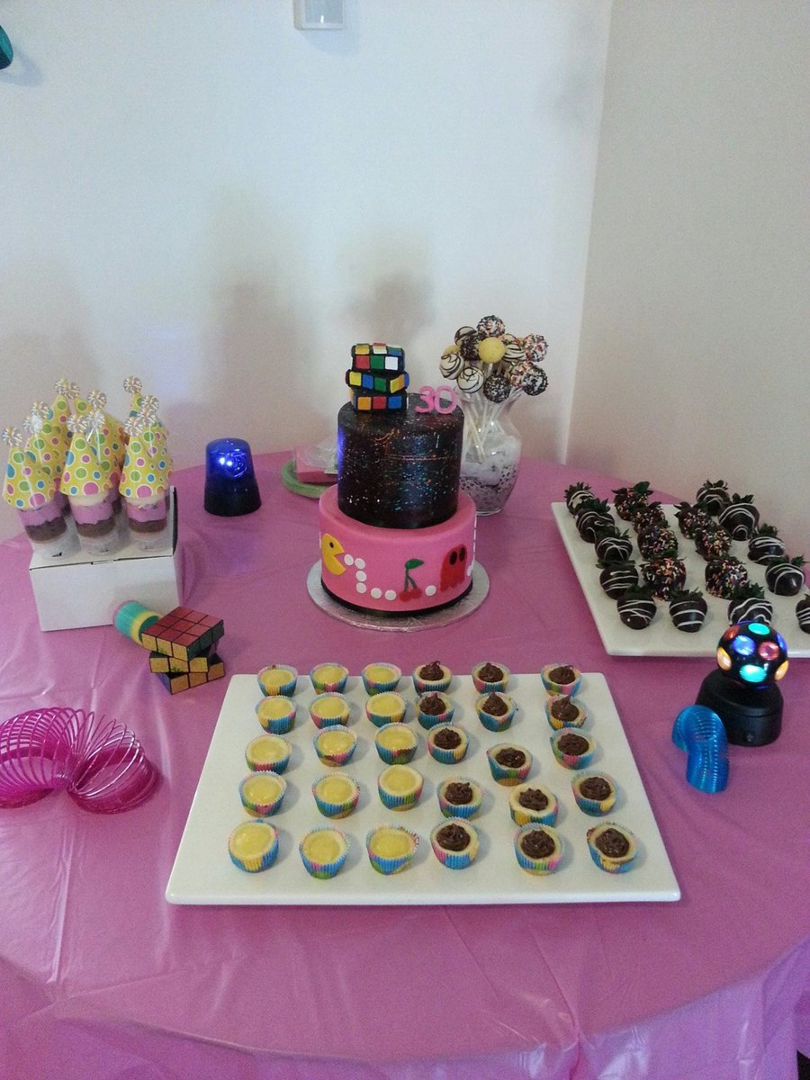 80S Theme Cake And Dessert Table on Cake Central