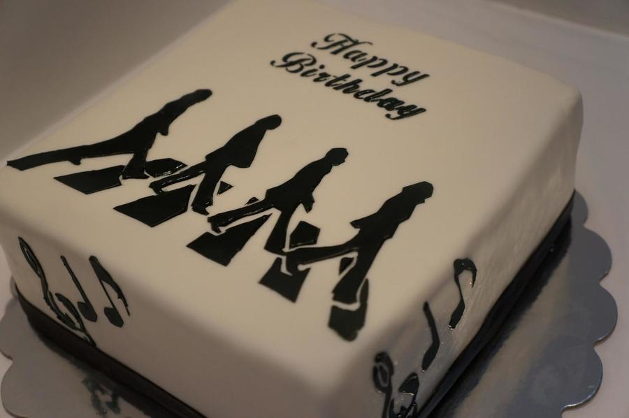 Abbey Road Theme Cake  on Cake Central