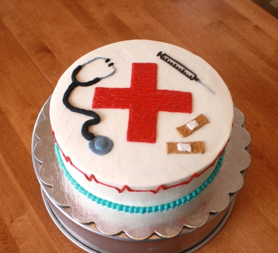 Cake Decorations For Nurses : Nurse Appreciation Cake - CakeCentral.com