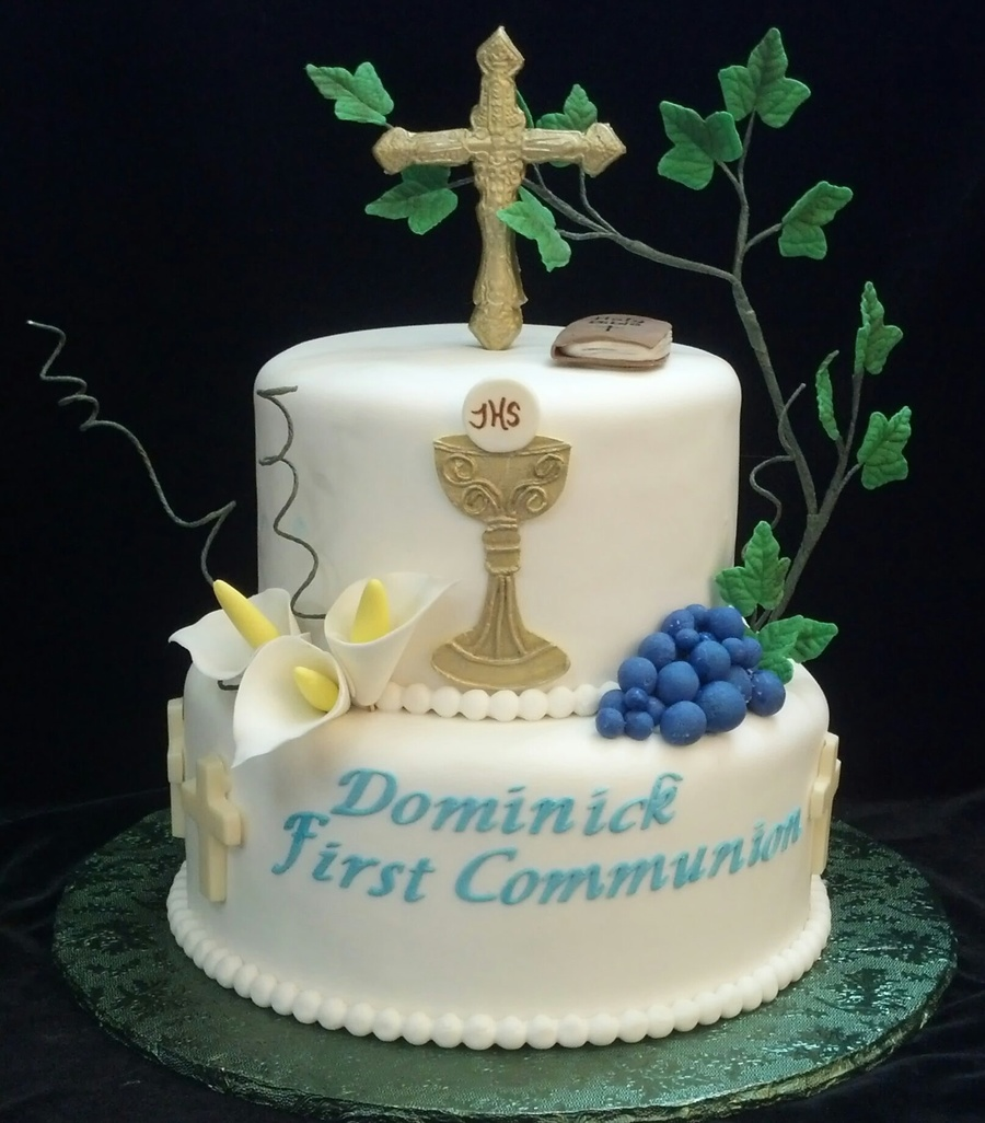 First holy communion cake for 1st holy communion cake decoration ideas