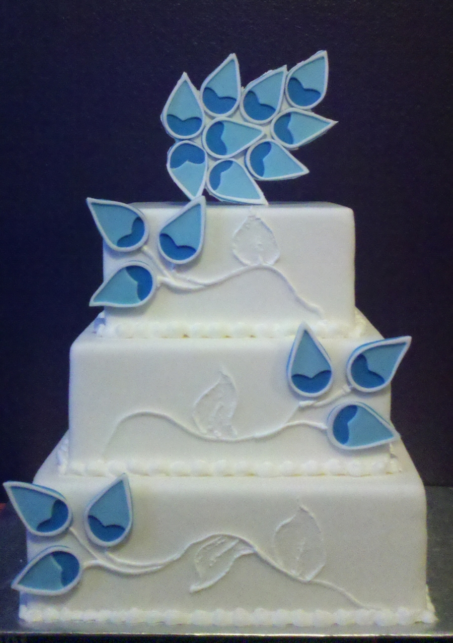 Something Blue Wedding Cake on Cake Central