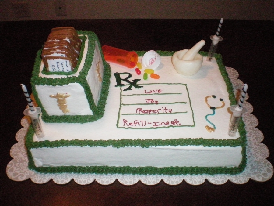 Interactive Pharmacy Themed Birthday Cake - CakeCentral.com