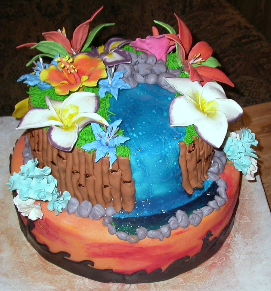 Terrific Hawaiian Themed Birthday Cake Cakecentral Com Personalised Birthday Cards Petedlily Jamesorg