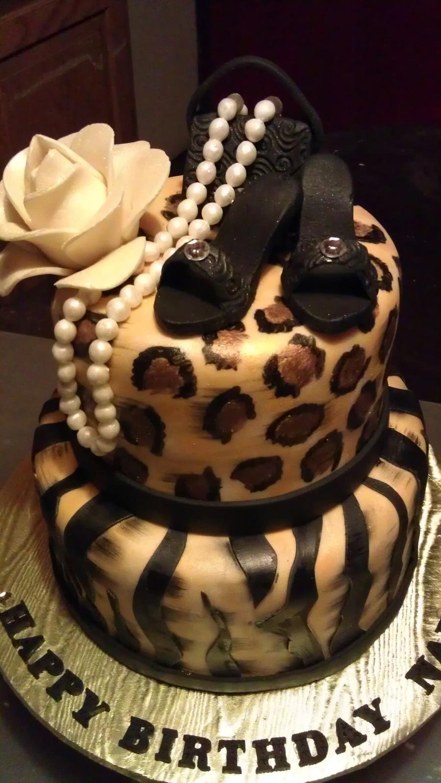 Cheetah Purse Cake