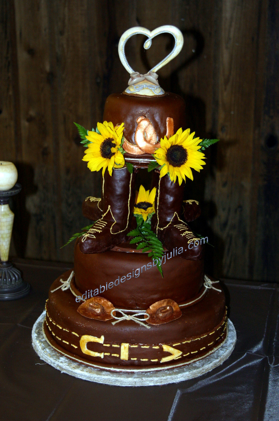 Western Wedding Cake on Cake Central