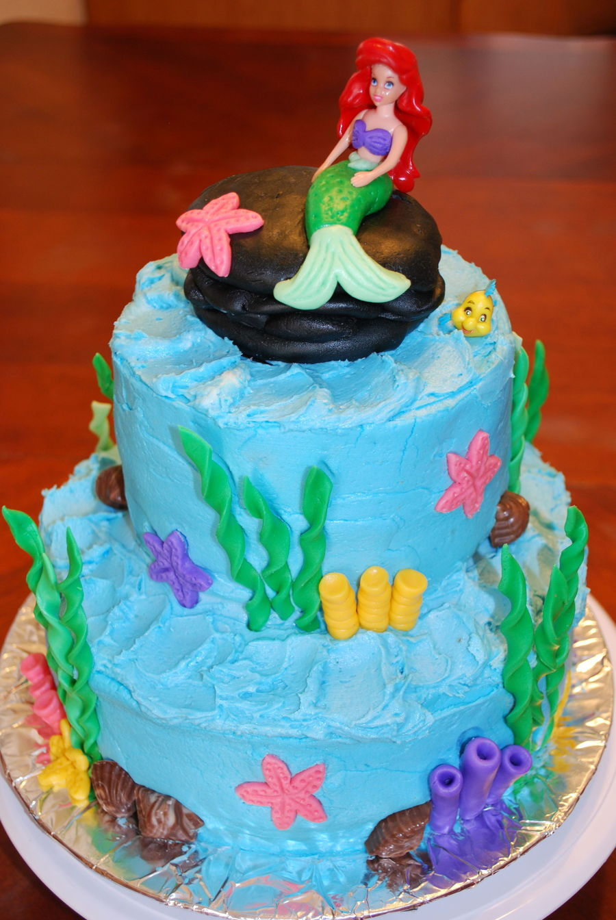Little Mermaid Cake Decorations