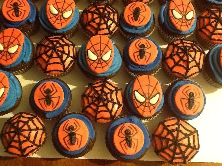 Spider Man Cupcakes on Cake Central