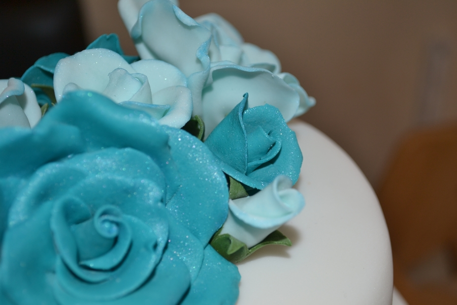 Tiffany Theme Birthday Cake CakeCentralcom